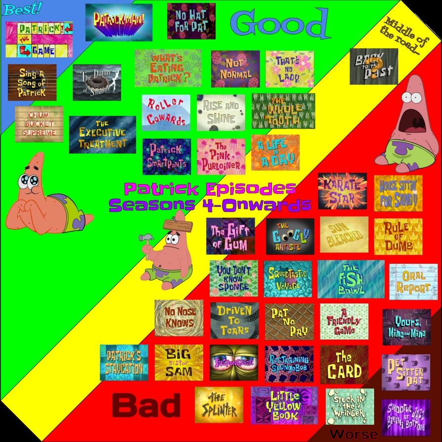 worst to best 1 patrick episodes post movie by supernut98 on