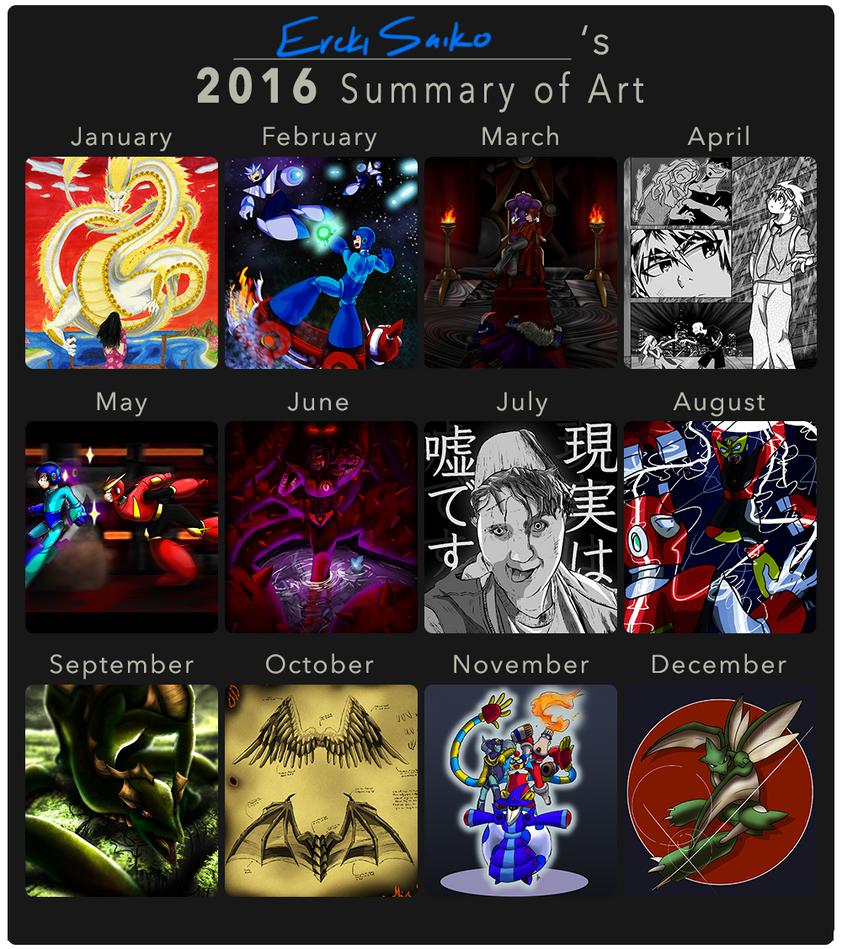 2016 Summary of Art by ErekiSaiko