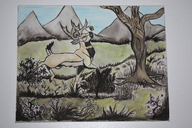 Painted Deer by Zyro-The-Pythia