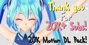 [MMD DL] 20K Motion Pack! [DL IN THE DESCRIPTION] by ureshiiiiii