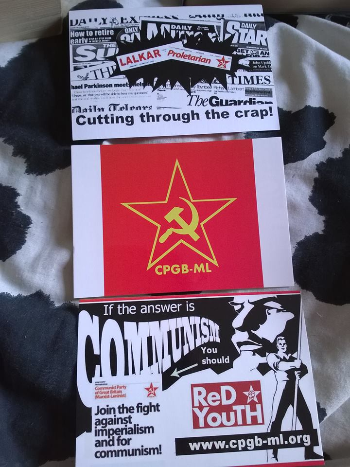British Communist Postcards Cpgb Ml Party By Cpgb Ml
