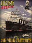 Affiche Jules Verne - Une Ville Flottante