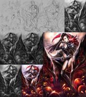 Blade and Soul Fan Art - Yu Lan (Process) by cmwdexint