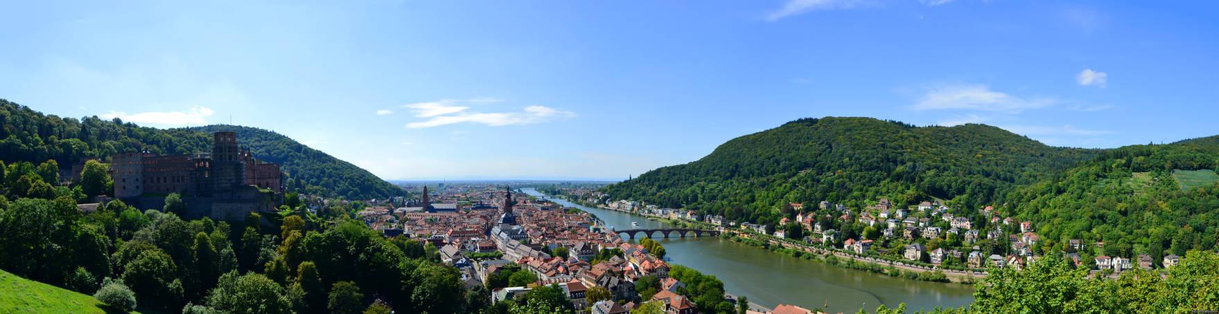 Panorama of Heidelberg.