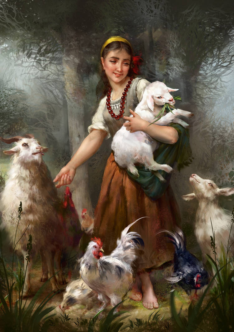 Goats and chicken FINAL byViktoriiaVovchuk by VikiGrafika