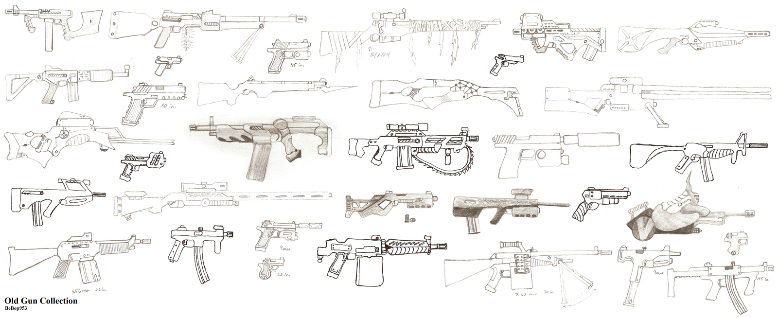 Guns Technical Drawing Gun Drawings...1600
