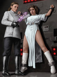 Leia's Interrogation by digitalDefeat