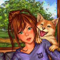 Take me a picture with my doggy ^^ by Heorukz