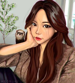Portrait Study by Heorukz