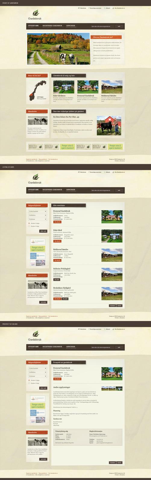 Farm advertising site by Svendsen