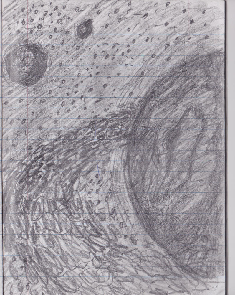 space planets pencil drawing - photo #20