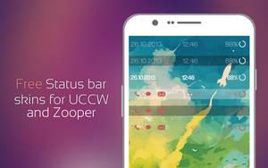 Free status bar skins for UCCW and Zooper widget by Rasvob