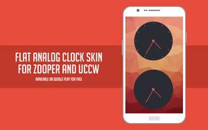Flat analog clock skin for Zooper and UCCW by Rasvob