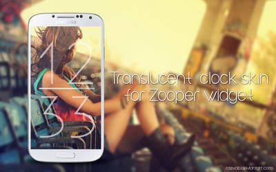 [FREE]Translucent clock skin for Zooper widget