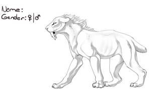 [UPDATE] Smilodon Lineart