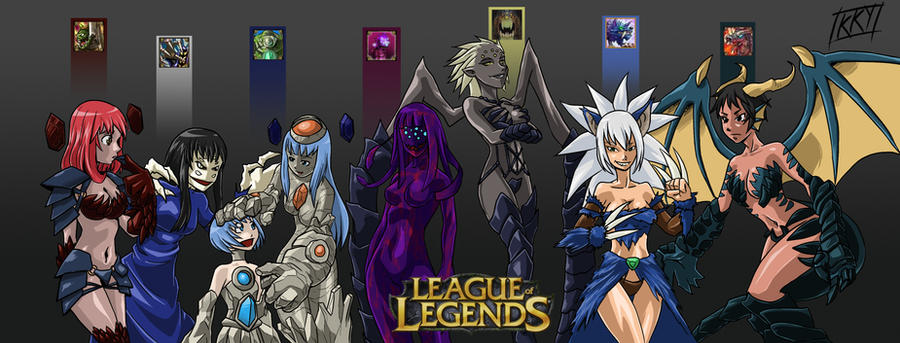 League of Legends: Female Jungle Monsters by KukuruyoArt