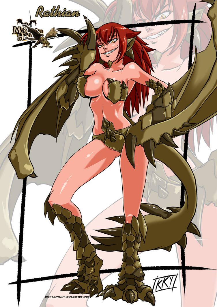 Female Version: Rathian by KukuruyoArt