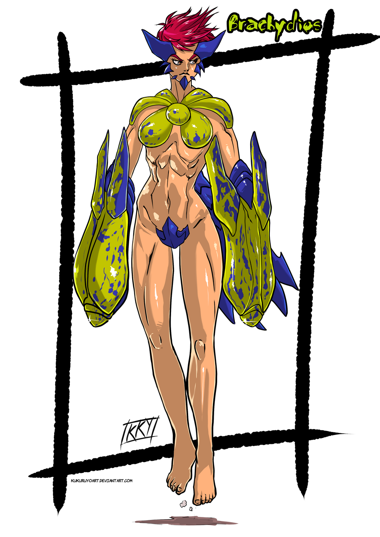Versiones femeninas de Monstruos - Página 2 Female_version__brachydios_by_kukuruyoart-d7g3yp8
