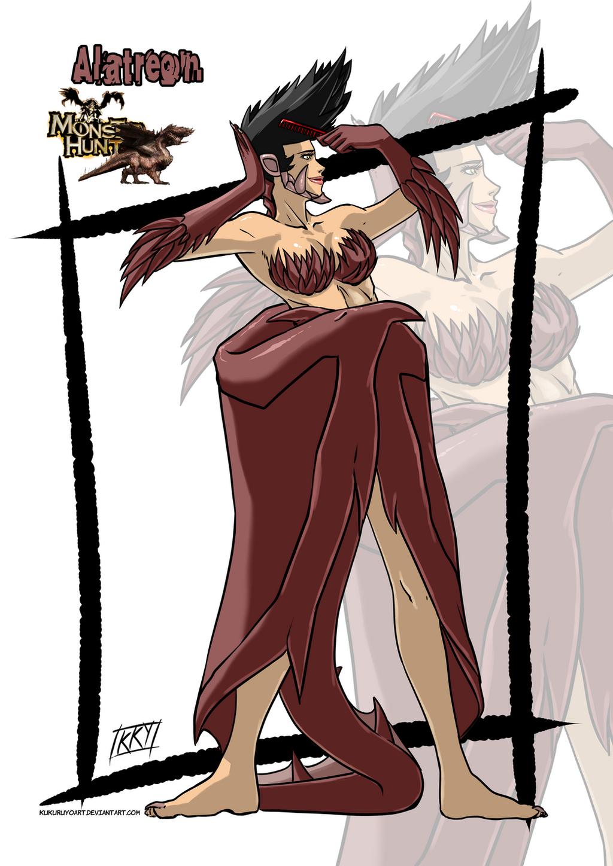 Versiones femeninas de Monstruos - Página 2 Female_version__alatreon_by_kukuruyoart-d7lnabp