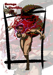 Savage Deviljho Monster girl by KukuruyoArt