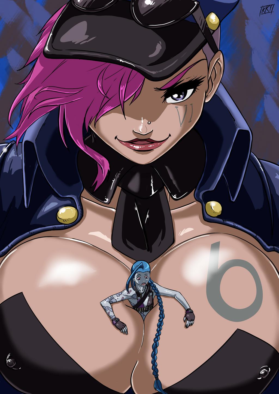 Vi and Jinx: Booby trap by KukuruyoArt