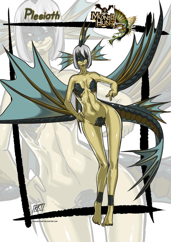 Versiones femeninas de Monstruos - Página 4 Plesioth_monster_girl_by_kukuruyoart-d83543p