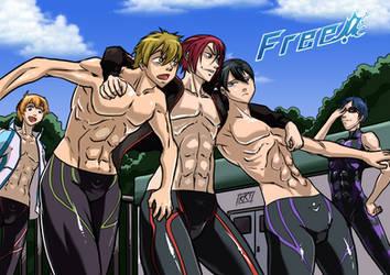 Free! fanart by KukuruyoArt