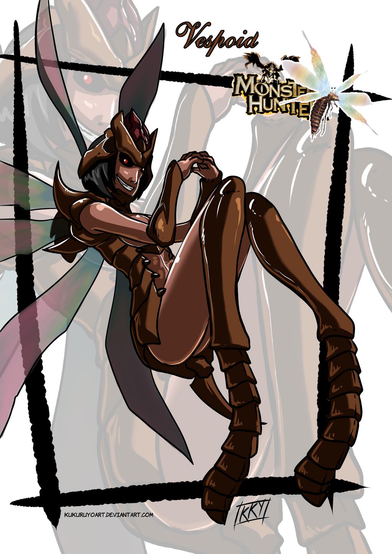 Versiones femeninas de Monstruos - Página 4 Vespoid_monster_girl_by_kukuruyoart-d86vqqc