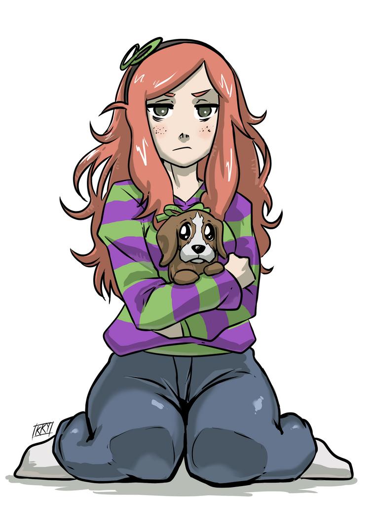 Vivian and Sad Puppie by KukuruyoArt