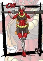 Oni monster girl by KukuruyoArt