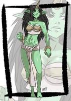 Commission: Ogre monster girl by KukuruyoArt
