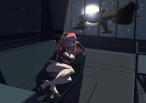 Commission: Vivian james in space