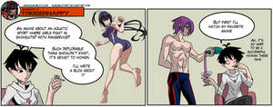 Gamergate Triggerhappy - Anime double standard by KukuruyoArt