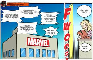 Gamergate Triggerhappy: Marvel comics by KukuruyoArt