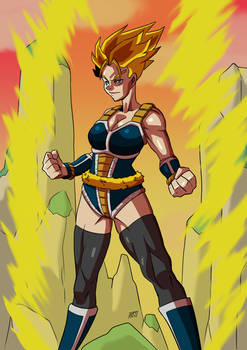 Commission: Female super saiyan
