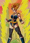Commission: Female super saiyan