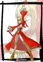 Red Saber by KukuruyoArt