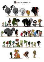 Cast of characters (Interlude) by KukuruyoArt