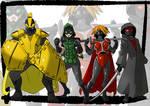 Commission: superheroes/villains