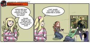 triggerhappy: Gamers don't want female protagonist by KukuruyoArt