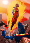 Goku vs DC poster