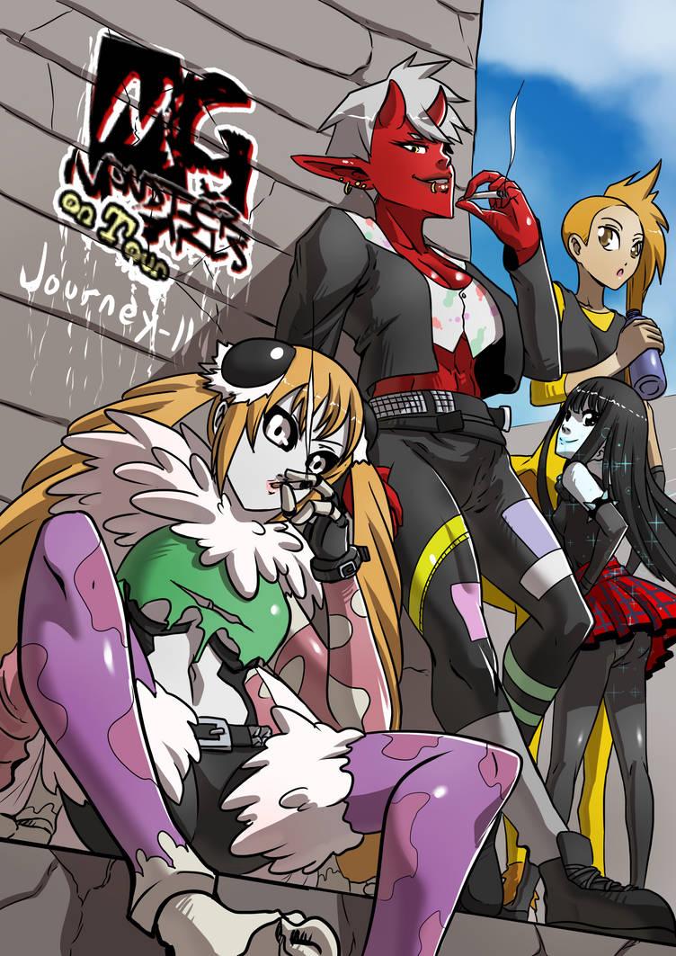 Monster girls on tour chapter 3 cover by KukuruyoArt