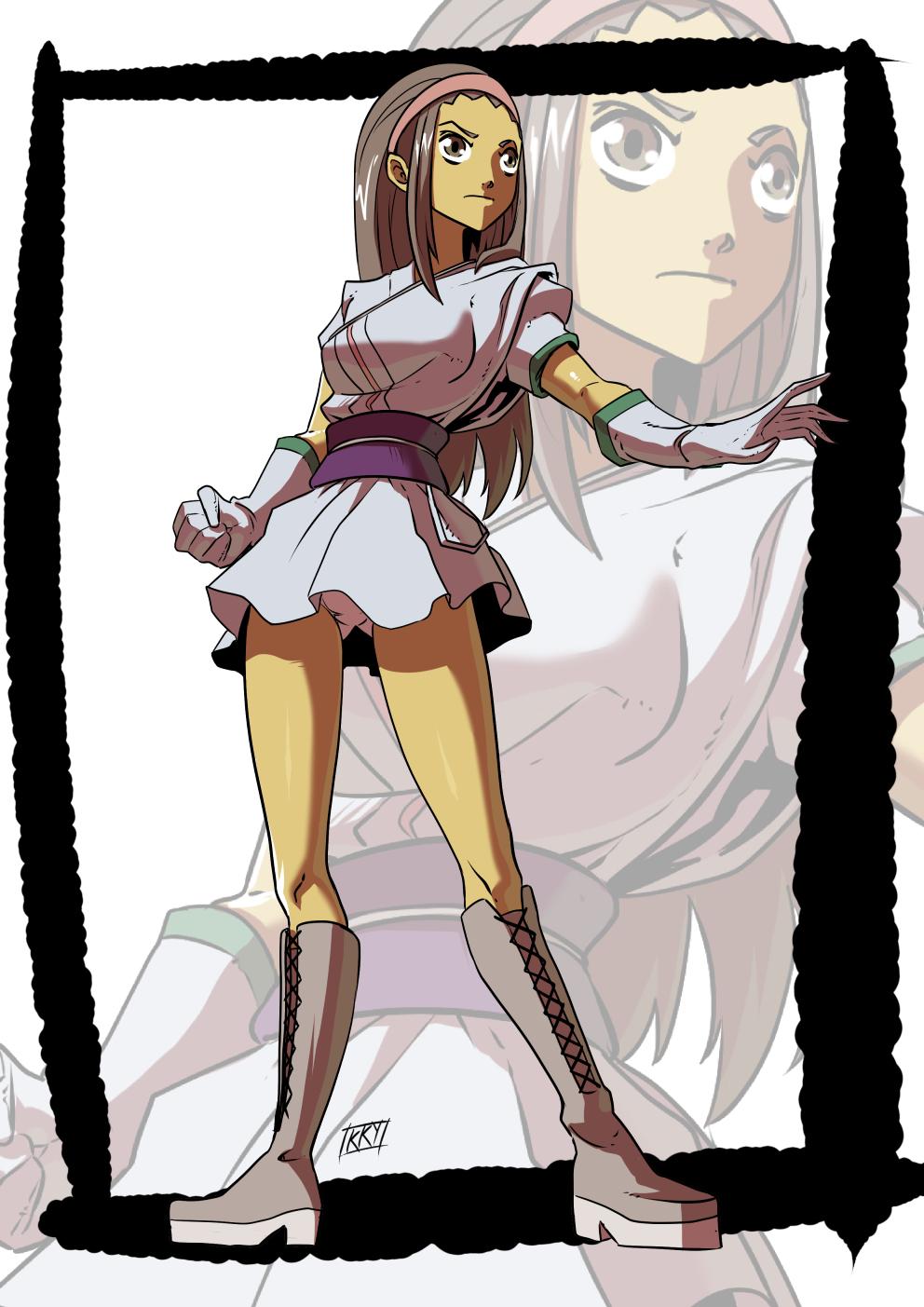 Commission: Fighter by KukuruyoArt