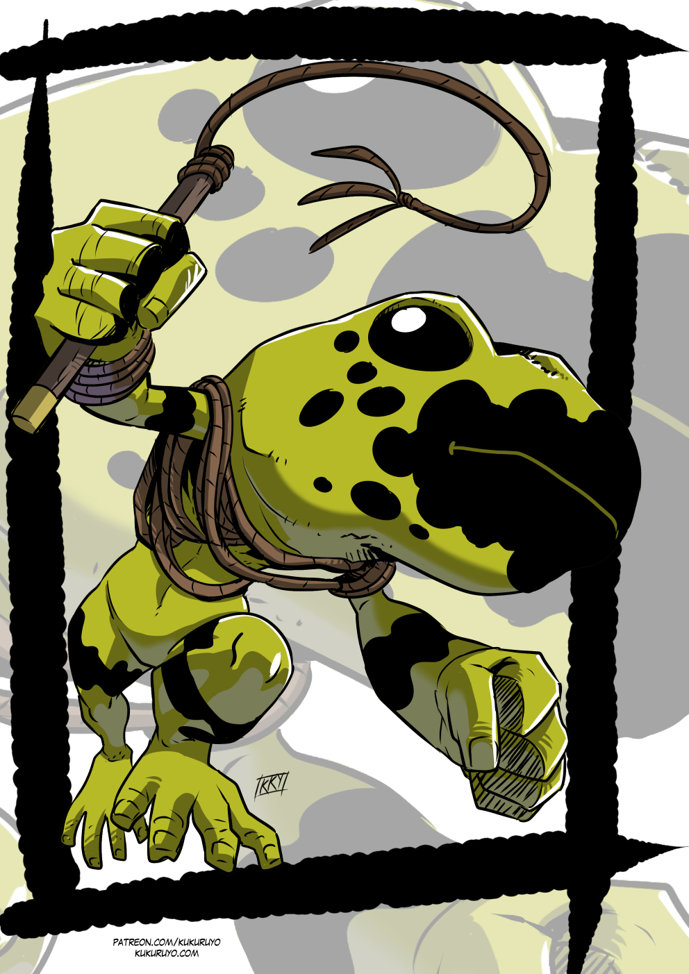 Patreon reward: Grung by KukuruyoArt