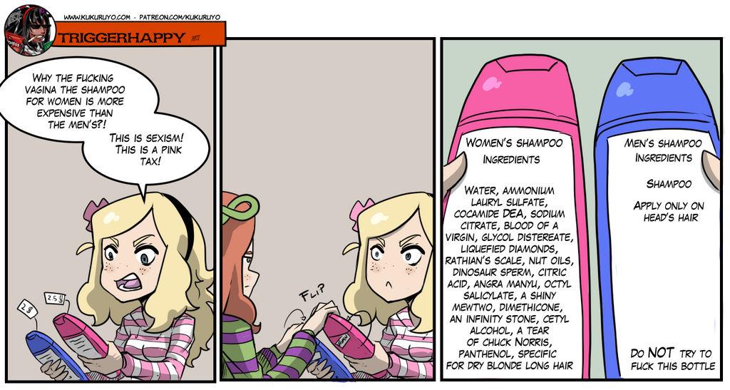 Triggerhappy: The pink tax by KukuruyoArt