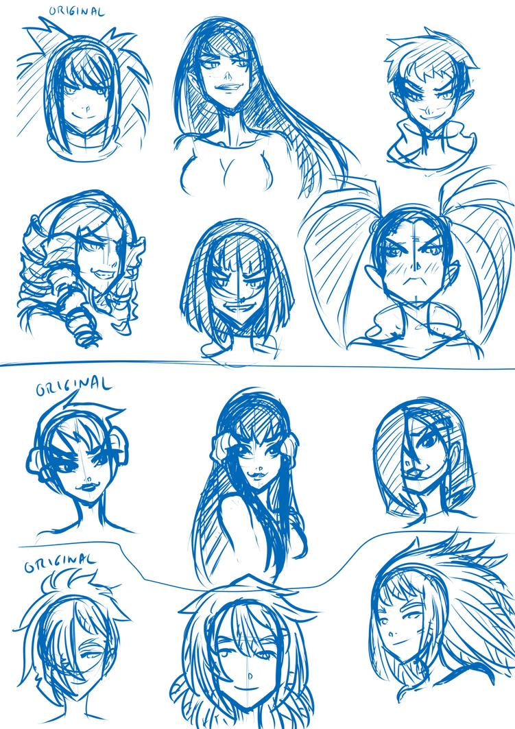 Hairstyles by KukuruyoArt