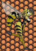 Wasp monster girl by KukuruyoArt