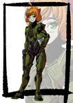 Girl in armor