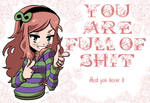 Vivian: You're full of shit by KukuruyoArt