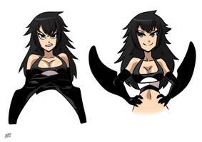 Orca faces 2 by KukuruyoArt